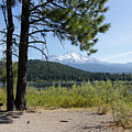 Mt Shasta And Lake Siskiyou In California R1649 by Wingsdomain Art and Photography