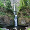 Multnomah Falls In The Columbia River Gorge In Oregon Dsc6514 by Wingsdomain Art and Photography