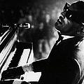 Musician Ray Charles Playing Piano In by Bill Ray