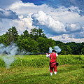 Musket Firing At Fort Necessity by Carolyn Derstine