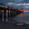 Naples Pier At Blue Hour Naples Florida Sunset by Toby McGuire