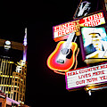 Nashville Skyline And Broadway Neon Lights by Gregory Ballos