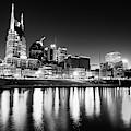 Nashville Skyline Dark Monochrome by Gregory Ballos