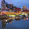 Nashville Skyline On The Cumberland River by Gregory Ballos