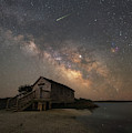 Naturalist Shack Under The Milky Way by Michael Ver Sprill