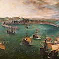 Naval Battle In The Gulf Of Naples by Peter Barritt