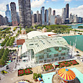 Navy Pier In Chicago by Jim Hughes