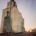 Nebraska Grain Elevator by Joan Carroll