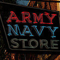 Neon Army Navy Store Sign by Chris Flees