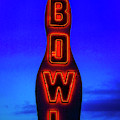 Neon Bowling Sign by Garry Gay