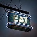 Neon Eat Sign by Kjohansen