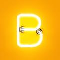 Neon Light Alphabet Character B Font by Dencg