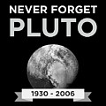Never Forget Pluto Planet 19302006 Universe by FH Design