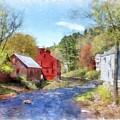 New Boston New Hampshire Watercolor by Edward Fielding