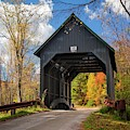 New England Covered Bridge  by Harriet Feagin