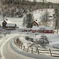 New England Farm In Snow by Joann Vitali