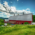 New England Red Barn - Vermont by Joann Vitali