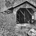 New Hampshire Mcdermott Covered Bridge Black And White by Adam Jewell