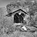 New Hampshire Mcdermott Historic Covere Bridge Black And White by Adam Jewell