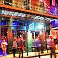 New Orleans Bourbon Street Night Lights by John Rizzuto