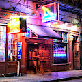 New Orleans Stiletto's Cabaret At Night by John Rizzuto