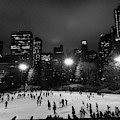 New York City - Central Park 005 Bw by Lance Vaughn