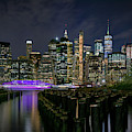 New York City From The Brooklyn Waterfront by Kristen Wilkinson