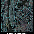 New York City Map Black Edition by Helge