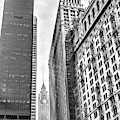 New York City Skyscrapers Black And White by Sharon Popek