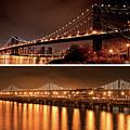 New York Meets San Francisco Manhattan Bridge Bay Bridge by Toby McGuire