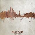 New York Rust Skyline by Michael Tompsett