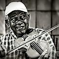 New York Street Fiddler by Max Huber