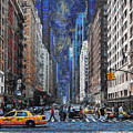 New York Street Traffic by Ronald Bolokofsky