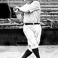 New York Yankees Babe Ruth Swinging His by New York Daily News Archive