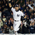 New York Yankees Derek Jeter Celebrates by New York Daily News Archive