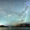 New Zealand Southern Hemisphere Skies Over Lake Wakatipu By Olena Art  by OLena Art - Lena Owens