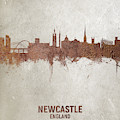 Newcastle England Rust Skyline by Michael Tompsett