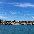 Newport Harbor Panorama  by Brian Eberly