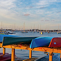 Newport Ri King Beach Kayaks Newport Harbor Sunset by Toby McGuire