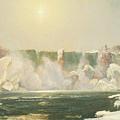 Niagara Falls In Winter by Jasper Francis Cropsey