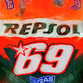 Nicky Hayden's No 69 Honda by Blake Richards