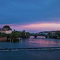 Night Boating On Vltava by Les Palenik