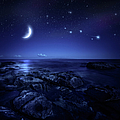 Night Shot Of Sea by Da-kuk
