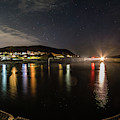 Night Sky Over Aberystwyth Harbour by Keith Morris