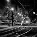 Night Train - Boston T Stop by Joann Vitali