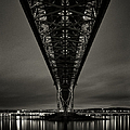 Night View Of Forth Road Bridge by Mark Voce Photography