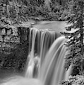 Nordegg Crescent Falls Portrait Black And White by Adam Jewell
