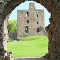 Norham Castle And Tower Through The Entrance Gate by Victor Lord Denovan