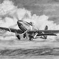 North American P-51 Mustang Takeoff by Douglas Castleman