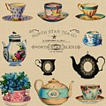 North Star Tea Co Tea Advertisement by Shabby Chic and Vintage Art
